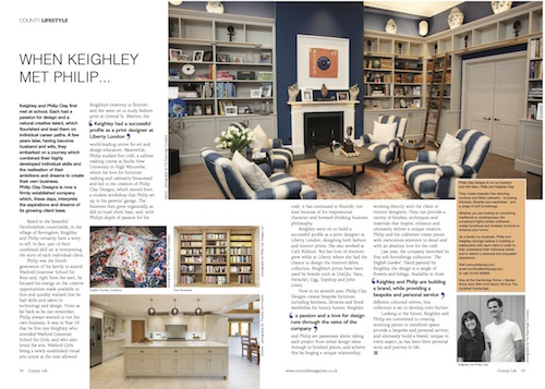 Philip Clay Design in Cambridgeshire County Life Magazine